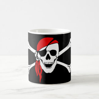 Skull and Cross Bones Pirate Magic Mug