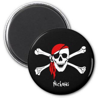 Skull and Cross Bones Pirate Magnet