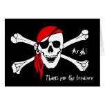 Skull and Cross Bones Thank You Card