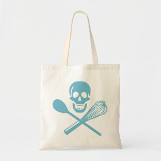 Skull and Cross Whisk Cornflour Blue Tote Bag