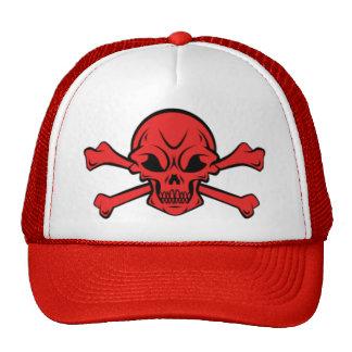 skull and crossbone trucker hat