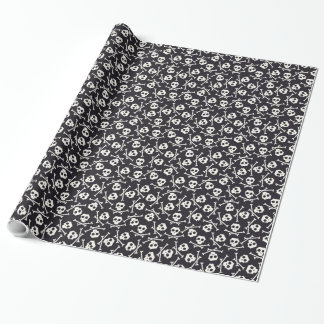 Skull and Crossbone Wrapping Paper