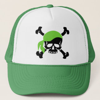 Skull and Crossbones 4 Trucker Hat