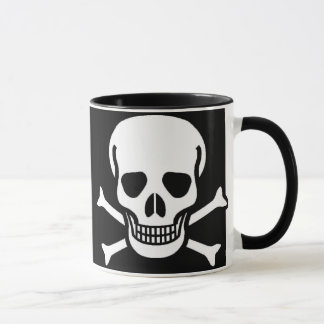 Skull and Crossbones Black Mug