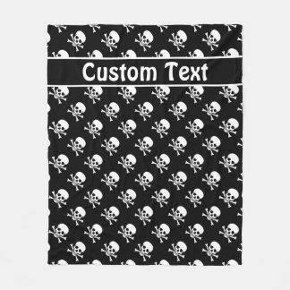 Skull and Crossbones Blanket with Custom Text