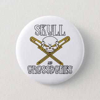 Skull and Crossbones Button (Trombones)