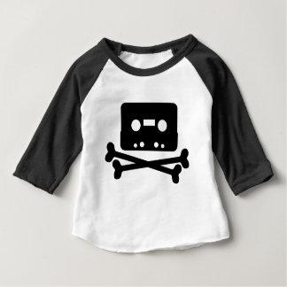 SKULL AND CROSSBONES CASSETTE TAPE BABY T-Shirt