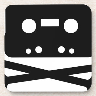 SKULL AND CROSSBONES CASSETTE TAPE COASTER