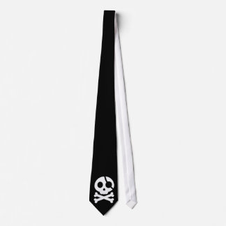 Skull and Crossbones Customizable Background Tie