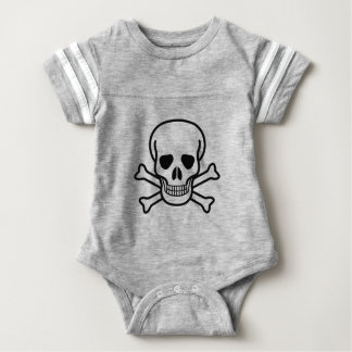Skull and Crossbones death symbol Baby Bodysuit