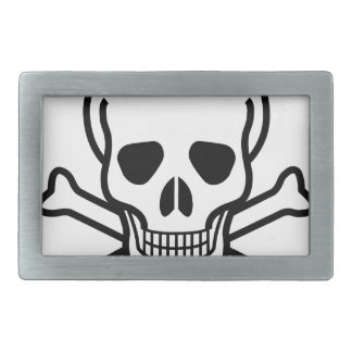 Skull and Crossbones death symbol Belt Buckle