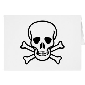 Skull and Crossbones death symbol Card