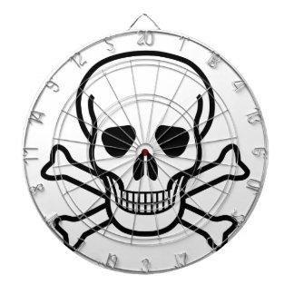 Skull and Crossbones death symbol Dartboard