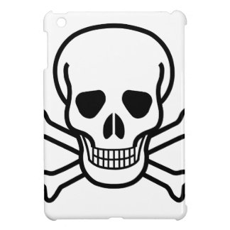 Skull and Crossbones death symbol iPad Mini Cover