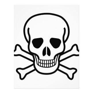 Skull and Crossbones death symbol Letterhead Template