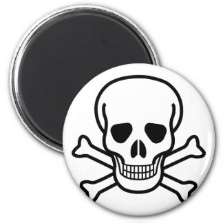 Skull and Crossbones death symbol Magnet