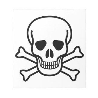 Skull and Crossbones death symbol Notepad