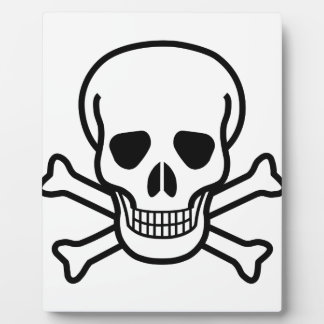 Skull and Crossbones death symbol Plaque
