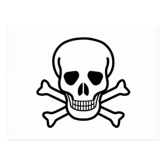 Skull and Crossbones death symbol Postcard