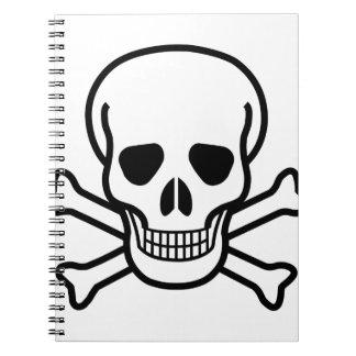 Skull and Crossbones death symbol Spiral Notebook