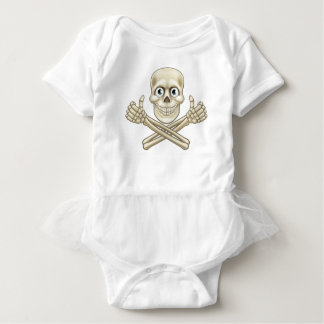 Skull and Crossbones Giving Thumbs Up Baby Bodysuit