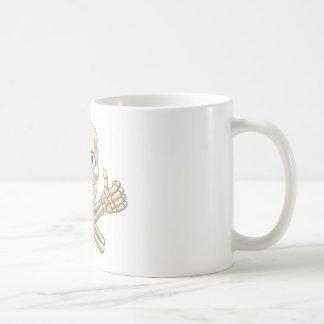 Skull and Crossbones Giving Thumbs Up Coffee Mug