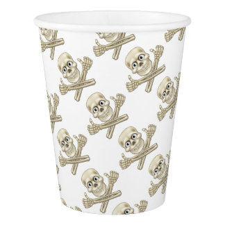 Skull and Crossbones Giving Thumbs Up Paper Cup