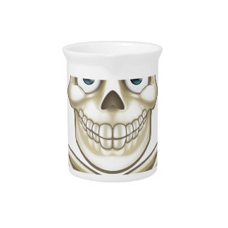 Skull and Crossbones Giving Thumbs Up Pitcher