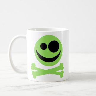 Skull and Crossbones. Green and Black. Coffee Mug
