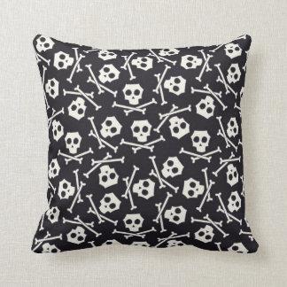 Skull and Crossbones Halloween Pillow