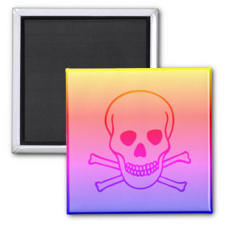 Skull and Crossbones Hazard Ipanema Magnet