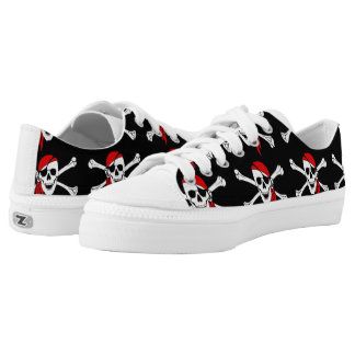 Skull and Crossbones Low-Top Sneakers