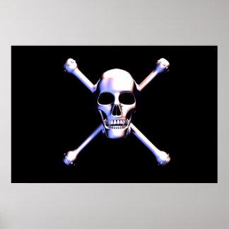 Skull and Crossbones- Metalhead Poster