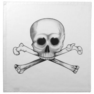 Skull and Crossbones Napkin