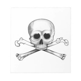 Skull and Crossbones Notepad