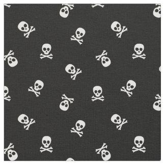 Skull and Crossbones on Black Fabric