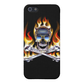 Skull and Crossbones on Fire iPhone 4 Speck Case