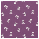 Skull and Crossbones on Purple Fabric