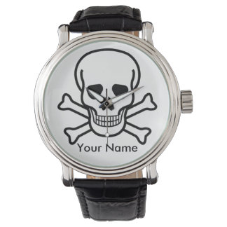 Skull and Crossbones on Watch Personalize