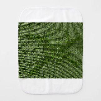 Skull and Crossbones Online Threat Concept Burp Cloth