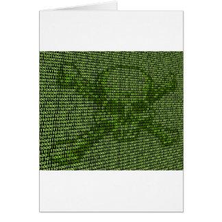 Skull and Crossbones Online Threat Concept Card