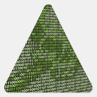 Skull and Crossbones Online Threat Concept Triangle Sticker
