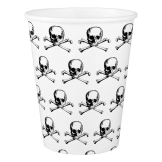 Skull And Crossbones Pattern Paper Cup