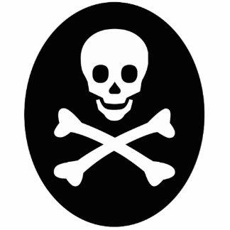 Skull and Crossbones Photo Sculpture Keychain