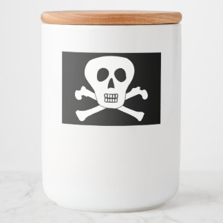 Skull and Crossbones Pirate Icon Food Label