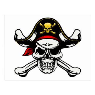 Skull and Crossbones Pirate Postcard