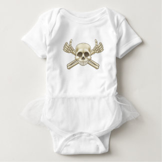 Skull and Crossbones Pirate Sign Baby Bodysuit