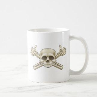 Skull and Crossbones Pirate Sign Coffee Mug