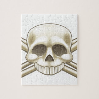 Skull and Crossbones Pirate Sign Jigsaw Puzzle