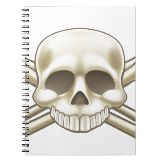Skull and Crossbones Pirate Sign Notebooks